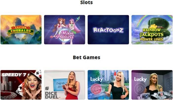 Nanocasino Casino Games